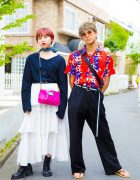 Harajuku Duo w/ Floral Print in Style Nanda, Birthdeath Tokyo, ESC Studio, UNIF & Marc Jacobs