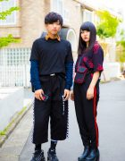 Dark Harajuku Street Styles w/ Never Mind The XU, OY, Nike, Claire's & H&M