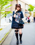 Harajuku Goth Girl in Sexy Dynamite London, Anglomania, Milk Boy, Yosuke, Hell Cat Punks & Baby The Stars Shine Bright