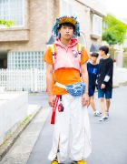 Harajuku Guy in Handmade Hoodie w/ Dog Harajuku, Macromauro, Phenomenon & Nike