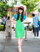 Harajuku Actress Colorful Sporty Chic Fashion w/ Ralph Lauren, Thank You Mart & Converse