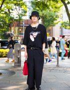 Harajuku Monochrome Streetwear w/ BERCERK
