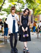 Monochrome Harajuku Street Styles w/ Gucci, Chanel, Vivienne Westwood, WHEIR Bobson, UNIF & Jeffrey Campbell