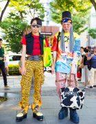 Colorful Harajuku Street Styles w/ Fendi, Jeremy Scott, Kinsella, Faith Tokyo, Moschino, YRU & UNIF