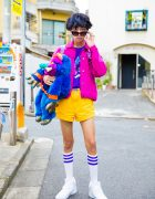 Colorful 1980s Retro Street Style w/ Peco Club, WC Harajuku, RRR By Sugar Spot Factory & My Pet Monster