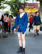 Denim on Denim Fashion in Harajuku w/ Mihara Yasuhiro, Moussy, Dr. Martens & Louis Vuitton