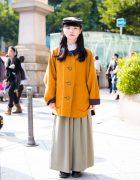 Harajuku Girl in Vintage Style w/ Issey Miyake, UNIQLO, Spinns, Dr. Martens, Amijed & Vivienne Westwood