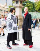 Monochrome +Red Japanese Street Styles w/ Zomu, Yohji Yamamoto, Vivienne Westwood & Converse