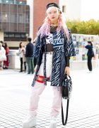 Pink Hair & Layered Tokyo Streetwear w/ Dog Harajuku, M.Y.O.B., Killstar, YRU, DVMVGE & Glad News