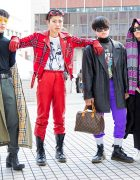 Winter Japanese Streetwear Styles w/ Gucci, Supreme, Burberry, Prada, Nerdy, Louis Vuitton, Maison Margiela, Versace & Loewe