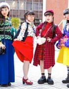 Tokyo Girls in Bold Colors & Prints w/ Ashinaga Ojisan, San-Biki No Koneko, Thank You Mart, YSL, Hermes, Kinji Harajuku, Never Mind the XU, Swimmer & Faith Tokyo