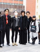 Bunka Fashion College Student Street Styles w/ Y's & Ann Demeulemeester Boots