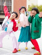 Japanese Entertainers in Colorful Streetwear w/ Vintage, Waku Waku Date, Love & Pink, Hangyodon & Sakata Aimi