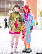 Colorful Mixed Prints Street Fashion w/ Angel Blue, Pom Pom Shop, Hysteric Glamour, Haight&Ashbury, Betty's Blue & Poco a Poco