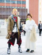 Tokyo Duo in Winter Street Fashion w/ Barragan, Anton Berluti, Rowan Clothing Co., Vejas, Alpha, Eckhaus Latta, Levi's, Gucci & MM6