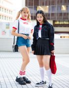 Tokyo Girls in Monochrome Street Fashion w/ Lazy Oaf, Cherry Pickers Club, American Apparel & Vans