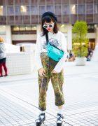 Eclectic Street Fashion in Tokyo w/ San To Nibun No Ichi, WEGO & Nike