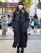 Dark Tokyo Winter Street Fashion w/ Perverze, Jeffrey Campbell, Bubbles, Ozoc & The North Face