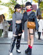 Harajuku Girls in Monochrome Streetwear Styles w/ Open the Door, One Spo, Kinji, YRU, Bubbles & MCM