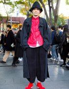 Red & Black Japanese Streetwear Style w/ Issey Miyake, Comme Des Garcons & Gosha Rubchinskiy