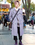 Purple Hair & Purple Winter Fashion w/ Comme des Garcons, Dr. Martens & Louis Vuitton