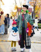 Stylish Mother-Daughter Duo in Harajuku w/ Facetasm & Maison de DACY