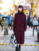 Chic Minimalist Street Style by Harajuku Girl w/ Alexander McQueen, Y's & Jil Sander
