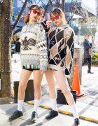 Vintage Holiday Sweater Fashion in Harajuku w/ Zara Lace Up Shoes & Gucci Printed Handbag