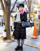 Harajuku Girl Winter Style w/ Tricot Comme des Garcons, Miya Nishiyama, CA4LA & Tokyo Bopper