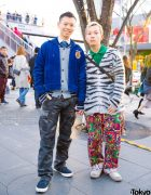 Harajuku Couple Street Style w/ Avirex, Polo Ralph Lauren, Caroline Constas, Big Smith & Manhattan Portage
