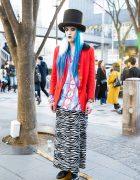 Colorful Avant-Garde Harajuku Street Style w/ Vivienne Westwood, Y's by Yohji & Maison Margiela