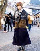 Harajuku Menswear Street Style w/ TTT_MSW Coat, Christian Dada & Gucci
