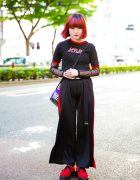 Red & Black Japanese Street Style w/ Ringer Tee, More Than Dope Backpack & Never Mind the XU