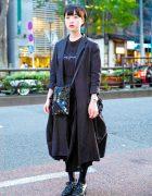 Minimalist Tokyo Street Style w/ Yohji Yamamoto, Junya Watanabe Comme des Garcons & Bao Bao Issey Miyake