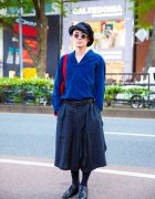 Japanese Fashion Designer Yuta Yajima in Harajuku w/ Issey Miyake, Yohji Yamamoto, Foot The Coacher & Leonard Foujita Tote Bag