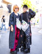 Harajuku Girls in Long Coats, Black Lace & Platforms w/ Faith Tokyo, Demonia, Vivienne Westwood & Never Mind the XU