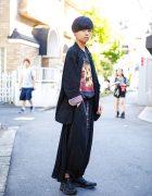 Minimalist Monochrome Yohji Yamamoto Japanese Street Style