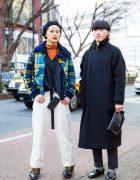 Tokyo Styles w/ Diesel Plaid Jacket, Global Work, Onitsuka Tiger, Levi's Coat, Takeo Kikuchi, Uniqlo & Haruta