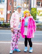 Colorful Harajuku Couple Fashion w/ Joyrich, Pinnap Camouflage Pants, Little Sunny Bite, Joyrich x Toy Story, G2?, Microwave Sweater Dress, Diesel & Fila Sneakers