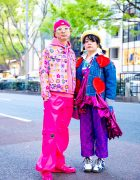 Harajuku Couple's Streetwear Styles w/ Smiley Face Beret, Kobinai, ESQAPE, New Era, Microwave, Nincompoop Capacity & Dr. Martens