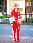 Japanese Musician in Harajuku w/ F1 Racing Jacket x San To Nibun No Ichi Resale Street Style