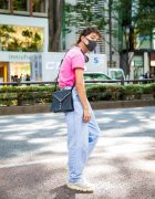 Casual Harajuku Street Style w/ Mullet, Headphones, MYOB NYC Shirt, Levi's Baggy Jeans, YSL Crossbody Bag & Grounds by Mikio Sakabe Jewelry Sneakers