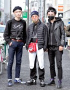 "Harajuku Guys in FaTToyz Jacket, Black Face Mask, ""Forever Young"" by eyeye"