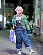 Harajuku Girl in Nozomi Ishiguro Denim, Tokyo Bopper & Vivienne Westwood
