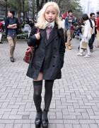 Blonde Japanese Fashion Student w/ Vivienne Westwood, Topshop & Agnes B