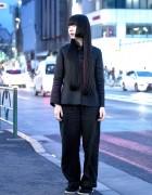 Dark Japanese Street Style w/ Comme Des Garcons & Yohji Yamamoto