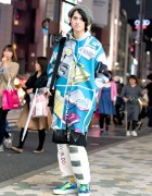 Tyakasha Windows Explorer Jacket, WIA, Blonde Cigarettes & Joshua Sanders in Harajuku
