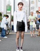 Harajuku Girl in Lady Gaga x Urban Outfitters Shirt, Dua Lipa Bag & Jeffrey Campbell