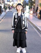 Shaved Hairstyle, Piercings, Leather Jacket & Vivienne Westwood in Harajuku