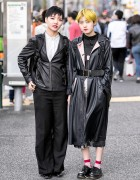 Harajuku Beauticians in Short Hairstyles & Vintage Street Fashion